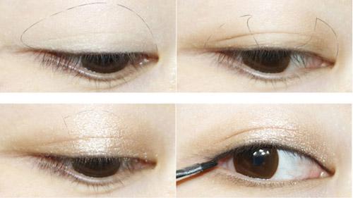 Cách trang điểm cho khuôn mặt với mí mắt dầu