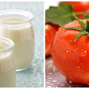 Hỗn hợp trị mụn an toàn từ cà chua và sữa chua