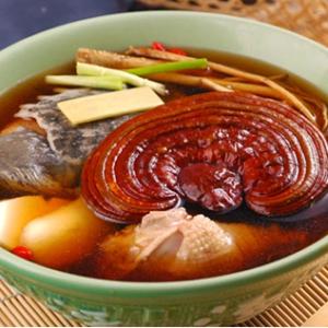 Cách làm món súp nấm linh chi sườn