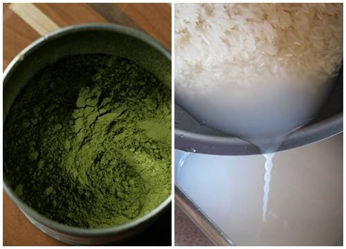 Trị mụn bọc bằng trà xanh và nước vo gạo