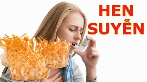 Tác dụng của đông trùng hạ thảo với bệnh hen suyễn