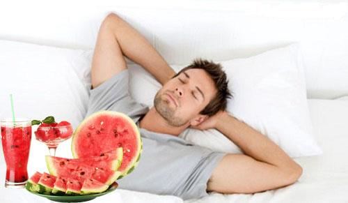 Tác dụng của dưa hấu đối với sức khỏe nam giới