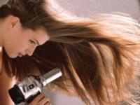 Sấy tóc ở nhiệt độ cao