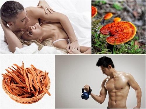 Nấm linh chi giúp tăng cường sức khỏe cho nam giới