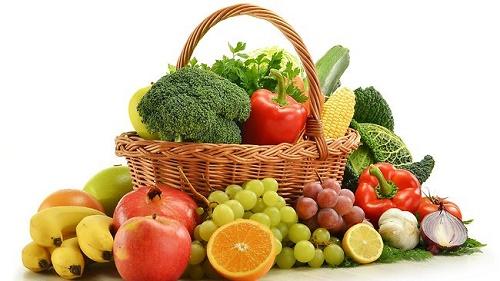 Chế độ dinh dưỡng bằng trái cây và rau xanh