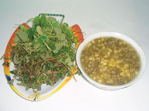 Món canh đậu xanh tốt cho người phỏng dạ