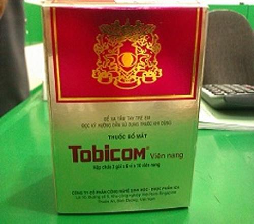 Công dụng của thuốc bổ mắt Tobicom: