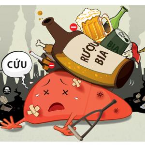 Rượu và các bệnh lý về gan