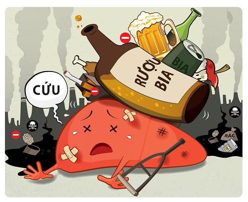 Ảnh hưởng của rượu bia do gan