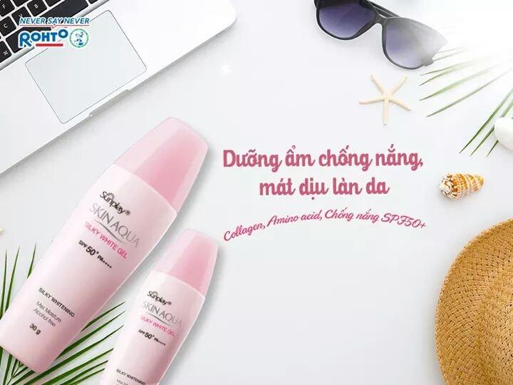 Kem chống nắng Sunplay Skin Aqua Silky White Gel